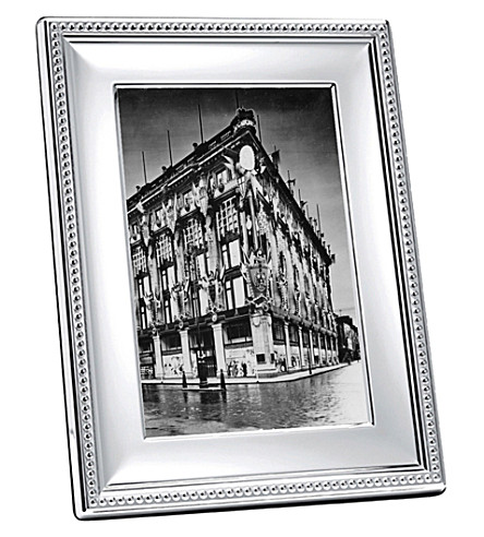 CHRISTOFLE Perles silver-plated photo frame 3