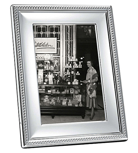 CHRISTOFLE Perles silver-plated photo frame 4