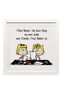 ART YOU GREW UP Best Thing We Ever Made Was Friends personalised art print, framed
