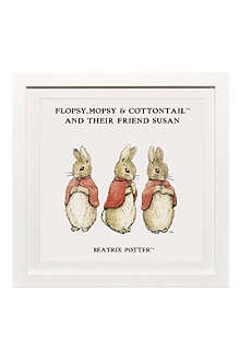 ART YOU GREW UP Flopsy, Mopsy & Cottontail personalised art print, framed