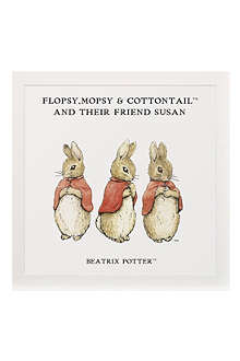 ART YOU GREW UP Flopsy, Mopsy & Cottontail personalised art print, unframed
