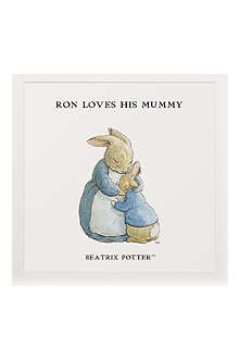 ART YOU GREW UP He Loves His Mummy personalised art print, unframed