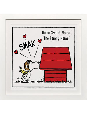ART YOU GREW UP Home Sweet Home personalised art print, framed