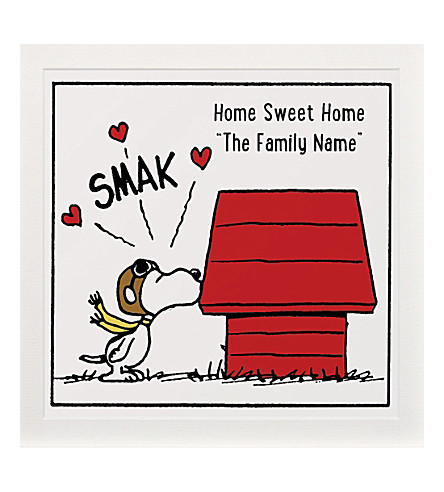 ART YOU GREW UP Home Sweet Home personalised art print, unframed