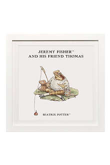 ART YOU GREW UP Jeremy Fisher and His Friend personalised art print, framed