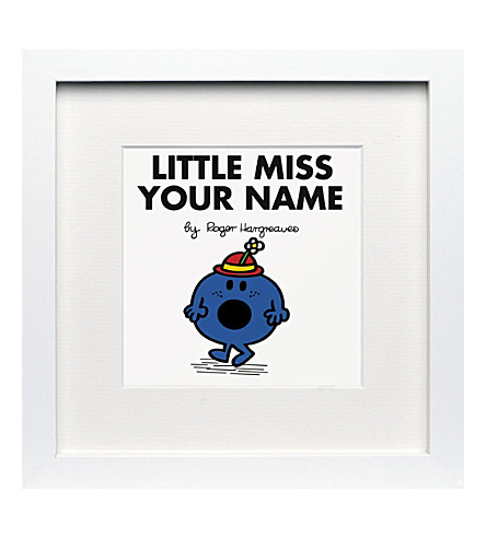 ART YOU GREW UP Little Miss Bossy personalised framed print
