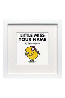 ART YOU GREW UP Little Miss Busy personalised framed print