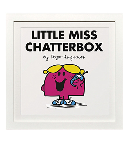 ART YOU GREW UP WITH Little Miss Chatterbox classic framed print