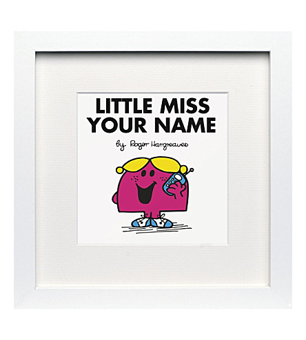 ART YOU GREW UP Little Miss Chatterbox personalised framed print
