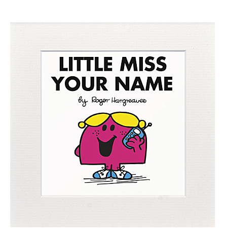 ART YOU GREW UP Little Miss Chatterbox personalised print