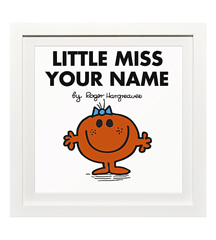 ART YOU GREW UP Little Miss Fun personalised framed print
