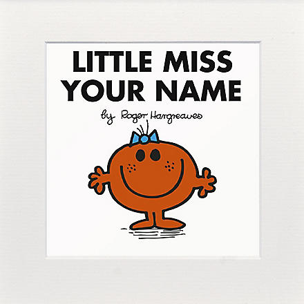 ART YOU GREW UP Little Miss Fun personalised print