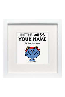 ART YOU GREW UP Little Miss Giggles personalised framed print