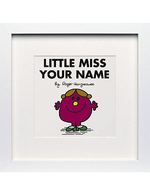 ART YOU GREW UP Little Miss Helpful personalised framed print