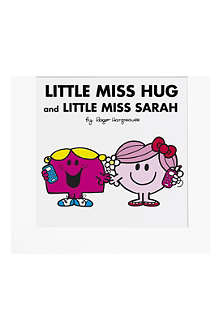 ART YOU GREW UP Little Miss Hug and Little Miss Chatterbox personalised art print, unframed