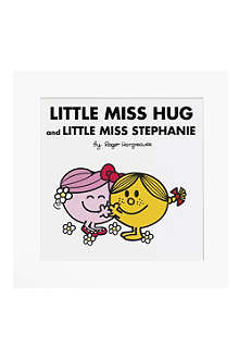 ART YOU GREW UP Little Miss Hug and Little Miss Sunshine personalised art print, unframed
