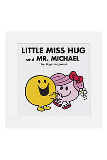 ART YOU GREW UP Little Miss Hug and Mr Happy personalised art print