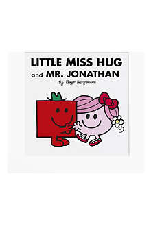 ART YOU GREW UP Little Miss Hug and Mr Strong personalised art print, unframed
