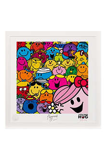 ART YOU GREW UP Little Miss Hug Selfie art print, unframed