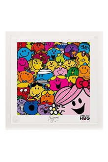ART YOU GREW UP Little Miss Hug Selfie art print, framed