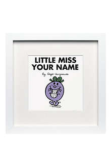 ART YOU GREW UP WITH Little Miss Naughty personalised framed print