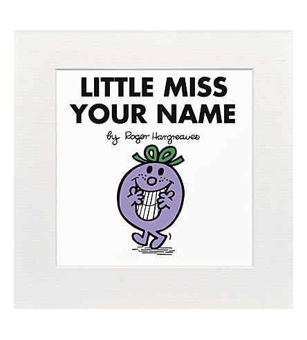 ART YOU GREW UP Little Miss Naughty personalised print