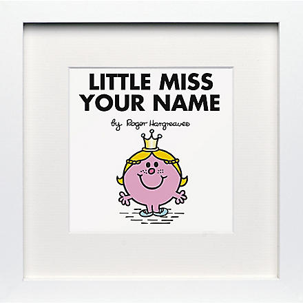 ART YOU GREW UP Little Miss Princess personalised framed print