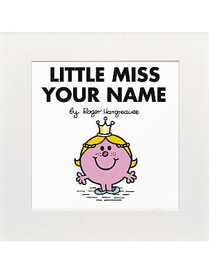 ART YOU GREW UP WITH Little Miss Princess personalised print