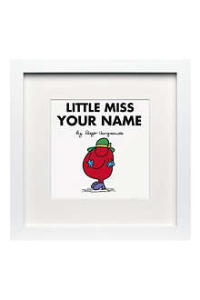 ART YOU GREW UP Little Miss Scatterbrain personalised framed print