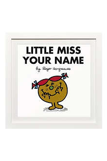 ART YOU GREW UP Little Miss Trouble personalised framed print