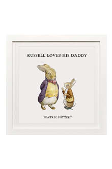 ART YOU GREW UP Loves His Daddy personalised art print, framed