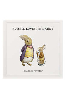 ART YOU GREW UP Loves His Daddy personalised art print, unframed
