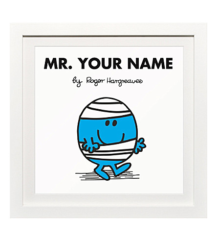 ART YOU GREW UP Mr. Bump personalised framed print