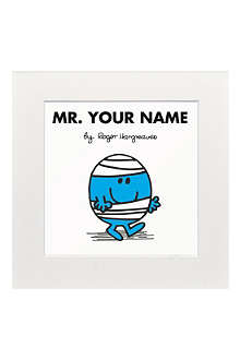 ART YOU GREW UP Mr. Bump personalised print