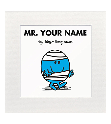 ART YOU GREW UP WITH Mr. Bump personalised print