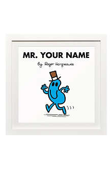 ART YOU GREW UP Mr. Busy personalised framed print
