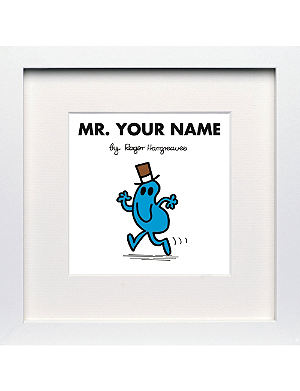 ART YOU GREW UP Mr Busy personalised framed print