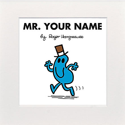 ART YOU GREW UP Mr. Busy personalised print