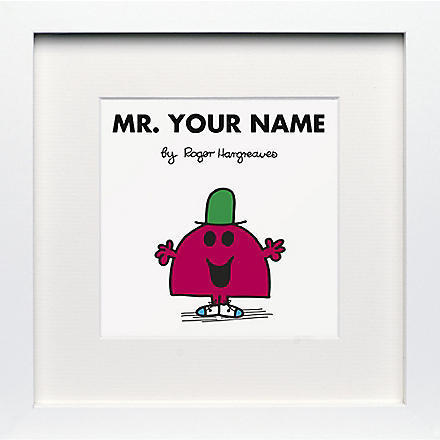 ART YOU GREW UP Mr. Chatterbox personalised framed print