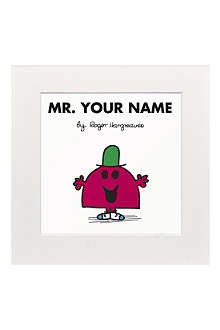 ART YOU GREW UP Mr. Chatterbox personalised print