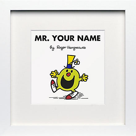 ART YOU GREW UP Mr. Funny personalised framed print