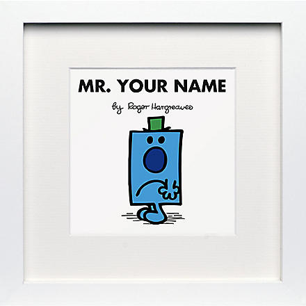 ART YOU GREW UP Mr. Grumpy personalised framed print