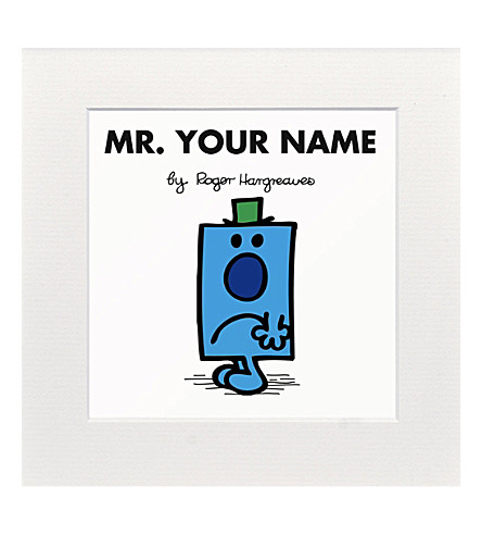 ART YOU GREW UP WITH Mr. Grumpy personalised print