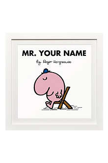 ART YOU GREW UP Mr. Lazy personalised framed print