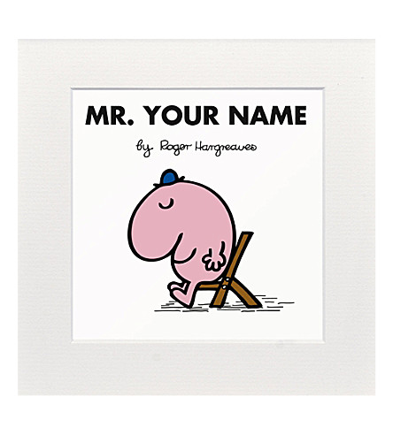 ART YOU GREW UP Mr. Lazy personalised print