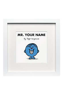 ART YOU GREW UP Mr. Perfect personalised framed print