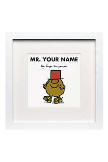 ART YOU GREW UP Mr. Silly personalised framed print