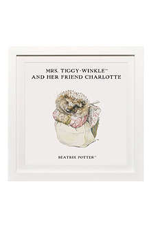 ART YOU GREW UP Mrs. Tiggy-Winkle and Her Friend personalised art print, framed