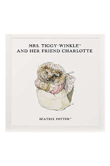 ART YOU GREW UP Mrs. Tiggy-Winkle and Her Friend personalised art print, unframed