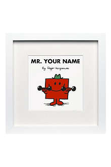 ART YOU GREW UP Mr Strong personalised framed print